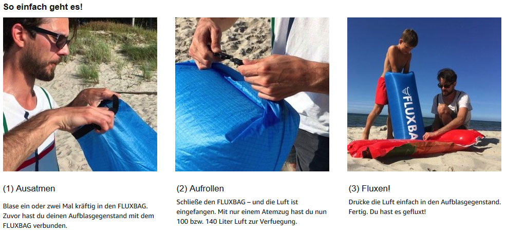 Fluxbag statt Luftpumpe