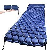 Ultraleichte Aufblasbare Isomatte, selbstaufblasbare Isomatte Camping Luftmatratze Camping Matratze Schlafmatte Campingmatratze aus TPU für Camping, Reise, Outdoor, Wandern, Strand (Blau)
