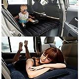 Luftmatratze Auto Matratze Aufblasbares Beflockt Bett Rücksitz Verlängerte Auto Kissen Reisen für Kinder (schwarz)