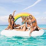 Jasonwell Riesiger aufblasbarer Luftmatratze Regenbogen-Wolke Pool Floß Schwimmen Schwebebett Wasserspielzeug Sommer Schwimmbad Wasser Floß Strand Ozean Spielzeug für Kinder Erwachsene Mädchen
