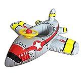 Ginkago Kinder Aufblasbares Flugzeug Kinder Pool Floß Baby Schwimmen Luftmatratze Wasserspielzeug Inflatable Pool Float Sommer Hingucker , 90*100Cm (Grau)