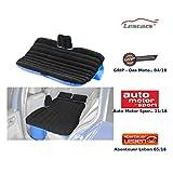 Lescars Auto Matratze: Aufblasbares Bett für den Auto-Rücksitz mit 12-Volt-Luftpumpe (Autoluftmatratze)
