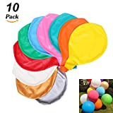 O-Kinee 10 Stück Grosse Luftballons Bunt 90cm ,36 Zoll Luftballon Helium, Latex Riesige Ballon Dekoration für Hochzeit Geburtstag Taufe Babyparty Kinder Party Festival (Mehrere Farbe)