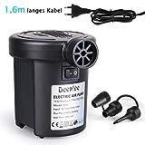 Deeplee Elektrische Luftpumpe Elektropumpe Power Pump,2 in 1 Inflate und Deflate Elektrische Pump mit 3 Luftdüse für aufblasbare Matratze,Kissen,Bett,Boot,Schwimmring