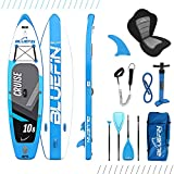 Bluefin Cruise SUP Board Set | Aufblasbares Stand Up Paddle Board | 6 Zoll Dick | Fiberglas Paddel | Kajak Sitz | Komplettes Zubehör 2020 (2020 Cruise 10'8)