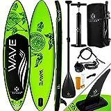KESSER® Aufblasbare SUP Board Set Stand Up Paddle Board   320x76x15cm 10.6'   Premium Surfboard Wassersport   6 Zoll Dick   Komplettes Zubehör   130kg, Grün