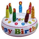 Preis am Stiel Aufblasbare Torte ''Happy Birthday'' | Geburtstagdekoration | Geschenk | Kindergeburtstag | Geburtstagstorte | Geschenk für Freundin