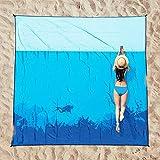 OCOOPA Stranddecke sandfrei XXL, 210x200cm Extra groß, Picknickdeck wasserdicht weiches und strapazierfähiges Meterial, leicht und tragbar, perfekt für Reisen, Camping, Strandurlaub