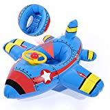 CrazyFire Baby Aufblasbare Schwimmringe, Flugzeug Yacht Kleinkind Schwimmen Schwimmsitz Boot Pool Ring für Baby Kinder 6 Monate bis 60 Monate (mit Horn)