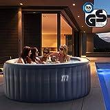 Miweba MSpa aufblasbarer Whirlpool Outdoor – 118 Massagedüsen + 4 Hydromassage Düsen - 4 Personen - Tüv GS geprüft – Elite Baikal E-BA04 Edition