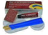 Plastik, PVC & PU- Reparatur-Set zum Beispiel für Schlauchboot, Zelt, Pool, Gewebe, Planen, Markise, Isomatte, Luftmatratze usw. aus Vinyl, PVC und PU