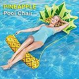 Queta Luftmatratze Wasserhängematte Aufblasbare Liege Wasser Bett Floating Aqua Lounge Schwimmbad Wasser Pool Matratze, Ananas Form