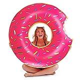 Migimi Donut Schwimmring, Schwimmring Aufblasbar 120cm Luftmatratze Reifen Floating-Ring Float Spielzeug Schwimmreifen für Erwachsene und Kinder, Aufblasbarer Luftmatratzen für Party, Pool, Strand