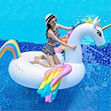 YANGSANJIN Hochwertiges Pool Floating Toy Aufblasbarer Umweltschutz PVC Rainbow Horse Float Row Wasser Aufblasbares Einhorn Pegasus FL (aufblasbar)