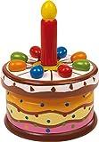 small foot 2483 Spieluhr Geburtstagstorte aus Holz, spielt das Lied 'Zum Geburtstag für dich', ab 3 Jahren