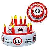 Preis am Stiel Geburtstags-Torte aufblasbar 60'   Geburtstag   Geschenk