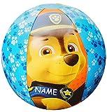 alles-meine.de GmbH Strandball / Ball aufblasbar -  Paw Patrol  - inkl. Name - Ø 42 cm - Wasserball - aufblasbarer großer Ball / Beachball - Kinder Spielball Aufblasball Luft /..