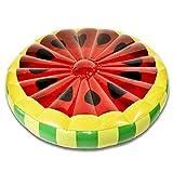 GOODS+GADGETS Melone Luftmatratze Aufblasbare Wassermelonen Matratze Badeinsel Schwimmreifen Schwimminsel Ø 143 cm