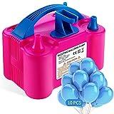 Aotlet Elektrische Luftballonpumpe,Aufblasgerät ballonpumpe Luftballons mit automatischem für Party Geburtstag, Hochzeit und Festivaldekoration - Enthält 10 Luftballons und Ballonknoter