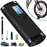 VEEAPE Elektrische Digitale Reifenpumpe mit 2000mAh Akku, 100PSI Fahrradluftpumpe Kompressor mit LCD-Bildschirm für Auto, Fahrrad, Motorrad, Basketball, Football usw. Als Taschenlampe und Powerbank.