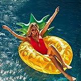 HAPPYFUN Aufblasbarer Luftmatratze Riesiger Schwimmring Pool - 43' Ananas Schwimmtier Schwimmreifen Luftmatratze Wasser Strand Party Spielzeug wasserspielzeug Sommerspielzeug Kinder Erwachsene