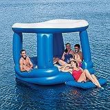 VNFWLDM Tropische Brise Extra Große Große 6-Personen-Erwachsene Wasser-Aufblasbare Party-Insel Float-Seefloat, Riesig Aufblasbarer Luxus-Golfwagen-Pool-Float, Perfekt Für Eine Sommerpool-Party