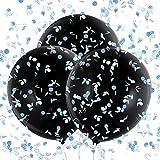 Konsait Geschlecht Baby Ballon Latex Konfetti Luftballons Helium XXL 36' Schwarz, 3 Pcs, M?dchen oder Jungen Geschlecht offenbaren Baby Dusche Party Dekorationen, mit rosa blau bunt Papier Konfetti